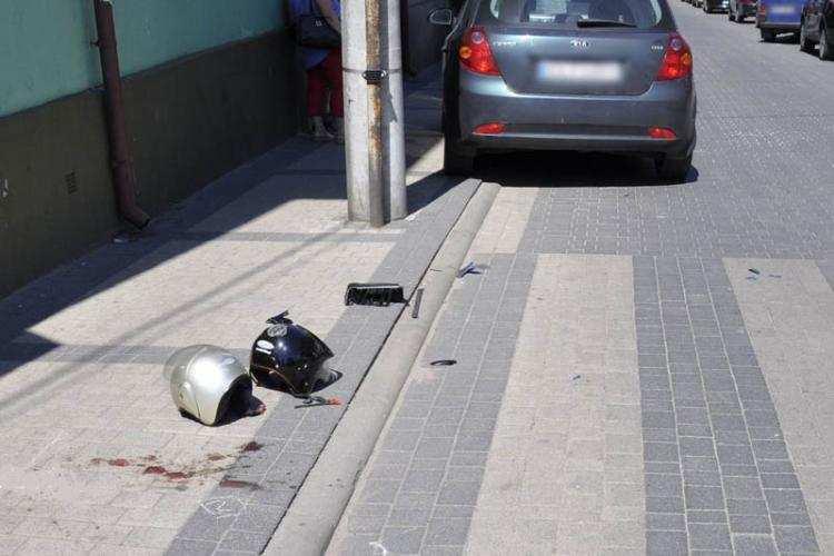 Region_, Pasażerka motoroweru trafiła szpitala Wszystkiemu winne oślepiające słońce - zdjęcie, fotografia