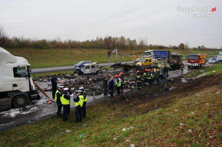 Informacje z Kraju, Tragiczny wypadek udziałem ciężarówek osobowych naczepą spłonęły osoby [KRAJ] - zdjęcie, fotografia