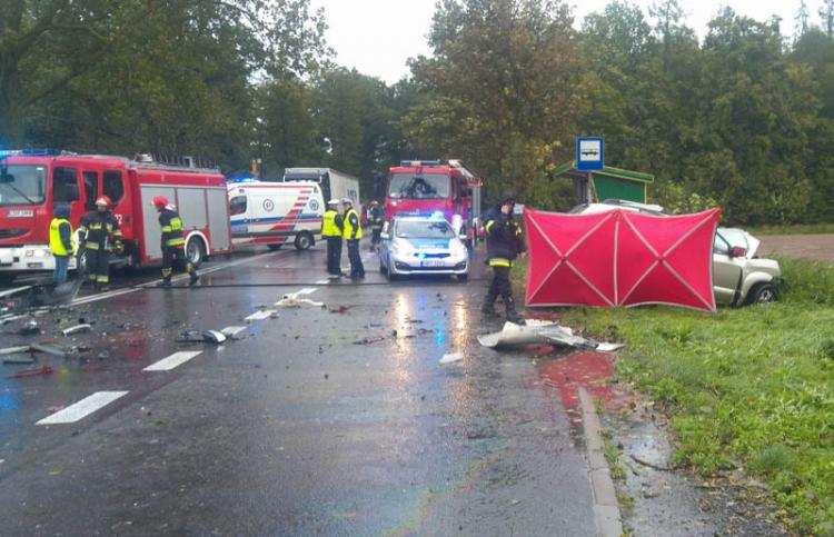 Region_, Tragiczny wypadek regionie! żyją osoby Osobówka zderzyła czołowo ciężarówką - zdjęcie, fotografia