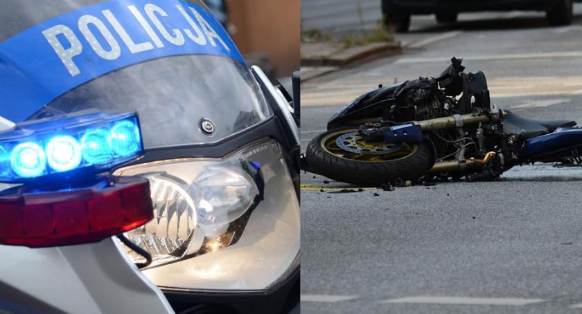 Wypadki drogowe, Śmiertelny wypadek udziałem motocylisty drodze Czarże żyje latek - zdjęcie, fotografia