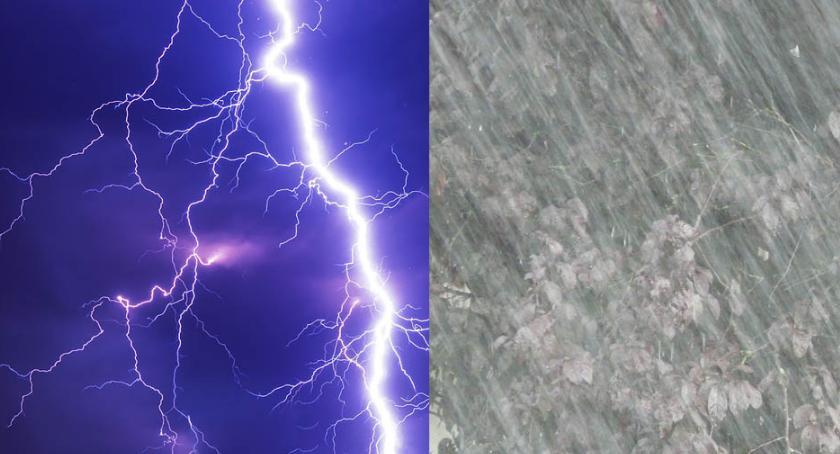 Komunikaty, Deszcz burze silny wiatr Włocławku regionie ponownie ostrzega - zdjęcie, fotografia