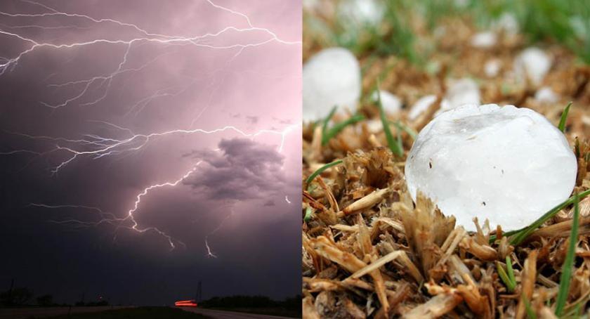 Komunikaty, Włocławek okolice nadchodzą deszcz burze silny wiatr - zdjęcie, fotografia