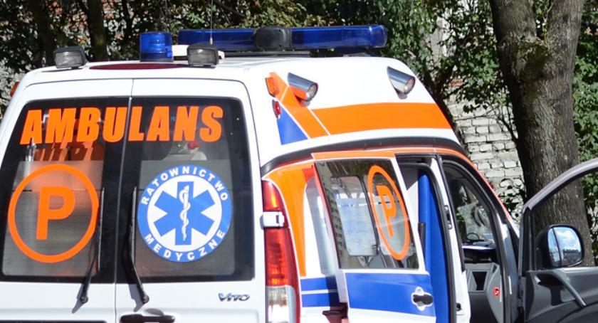 Wypadki drogowe, Wypadek udziałem rowerzysty Włocławkiem - zdjęcie, fotografia