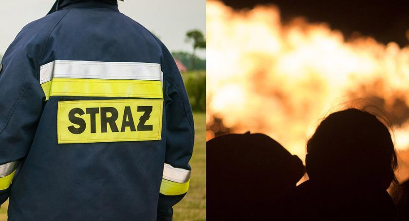 Pożary interwencje straży , Pożar Starym Brześciu osoby trafiły szpitala Jedna Siemianowic Śląskich - zdjęcie, fotografia