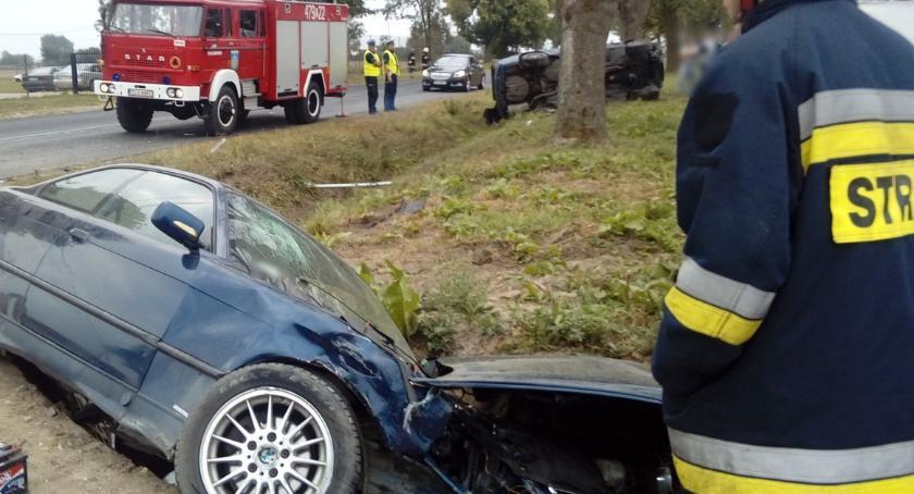 Wypadki drogowe, Zderzenie dwóch Chlebowie wypadków powiecie lipnowskim [ZDJĘCIA] - zdjęcie, fotografia