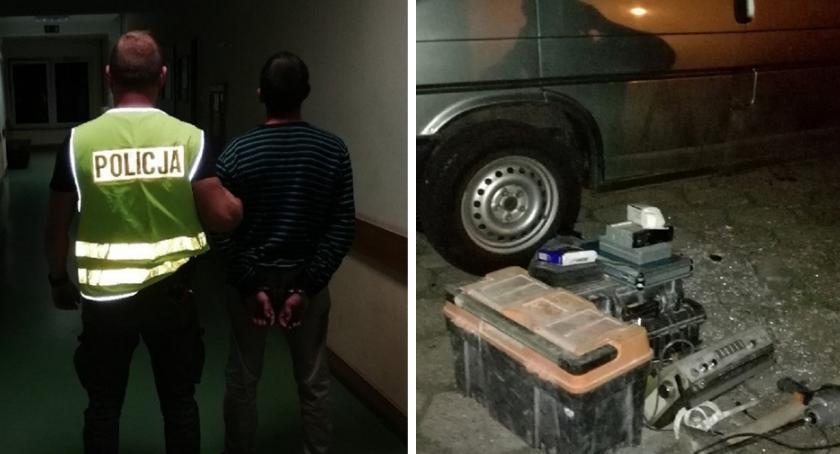 Sprawy kryminalne - kronika, Włamał centrum Włocławka Zamierzał wrócić resztę łupów - zdjęcie, fotografia