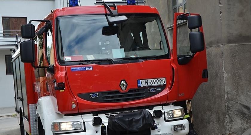 Pożary interwencje straży , Pożar bloku ulicy Królewieckiej Włocławku - zdjęcie, fotografia