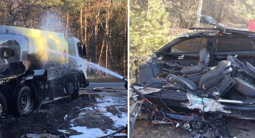 Wypadki drogowe, Tragiczny wypadek między Włocławkiem Kowalem zdjęcia mrożą żyłach [ZDJĘCIA] - zdjęcie, fotografia