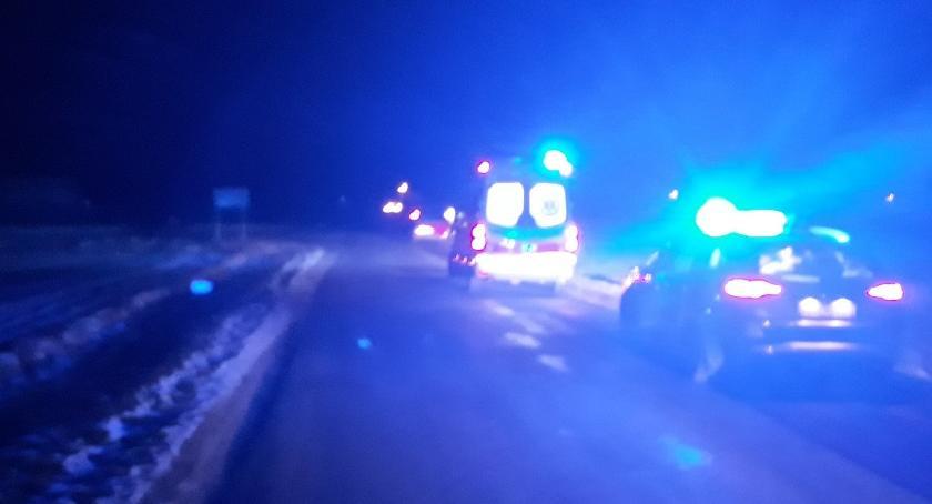 Wypadki drogowe, Śmiertelny wypadek Borzyminie powiecie rypińskim latek potrącił pieszego [FOTO] - zdjęcie, fotografia