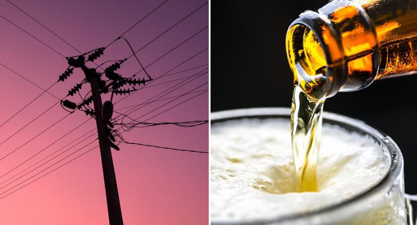 Wypadki drogowe, Pijany latek uderzył słup energetyczny Kruszynie - zdjęcie, fotografia