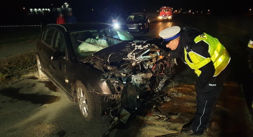 Wypadki drogowe, Tragiczny wypadek Jarantowicach Gminie Choceń żyje latek cztery osoby szpitalu - zdjęcie, fotografia