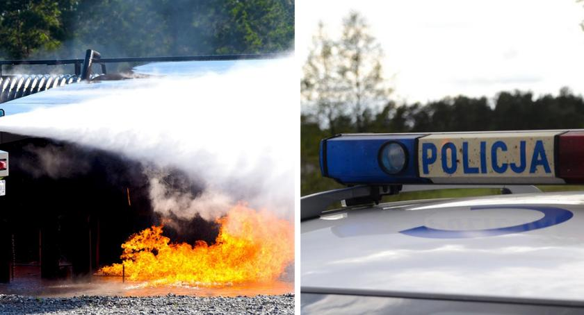 Sprawy kryminalne - kronika, Kikół Skradzionym samochodem rozbił myjnię potem podpalił - zdjęcie, fotografia