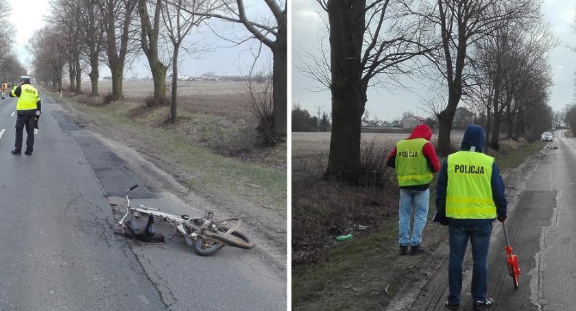 Wypadki drogowe, Tragiczny wypadek powiecie rypińskim żyje rowerzysta [FOTO] - zdjęcie, fotografia