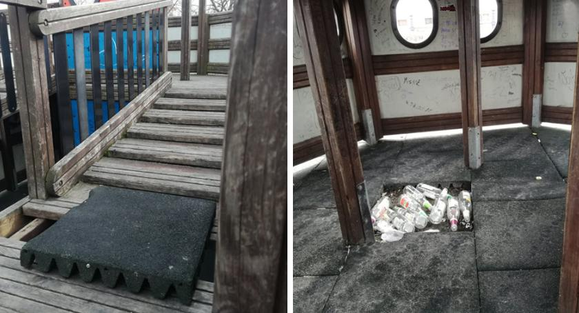Ludzie_, Śmieci placu zabaw Włocławku nasze dzieci bezpieczne [INTERWENCJA] - zdjęcie, fotografia