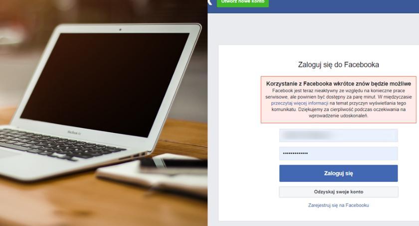 Komunikaty, Awaria Facebooka Kiedy zostanie usunięty problem - zdjęcie, fotografia