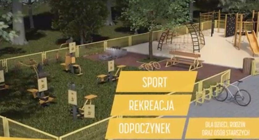 Inwestycje, Siłownie zewnętrzne place zabaw strefy relaksu wszystko Gminie Lubień - zdjęcie, fotografia