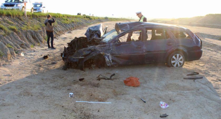 Wypadki drogowe, Tragiczny wypadek regionie Kierujący fordem miał prawa jazdy - zdjęcie, fotografia