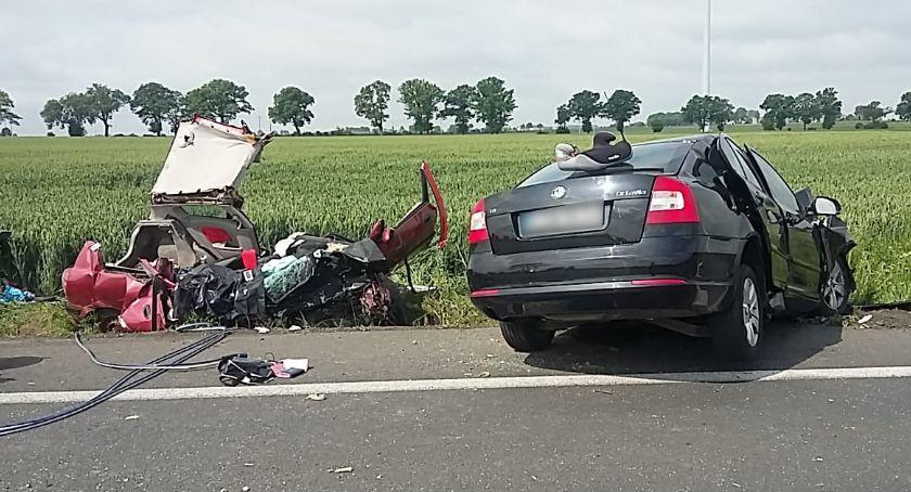 Wypadki drogowe, Tragiczny wypadek Głuchowie żyje latka letnia dziewczynka osób szpitalu - zdjęcie, fotografia