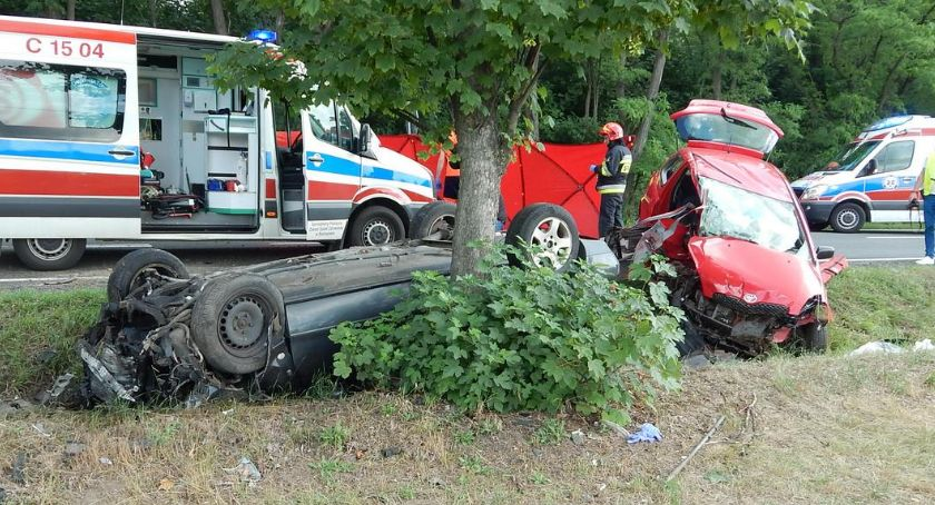 Wypadki drogowe, Tragiczny wypadek Borucinku powiecie radziejowskim żyje latka - zdjęcie, fotografia