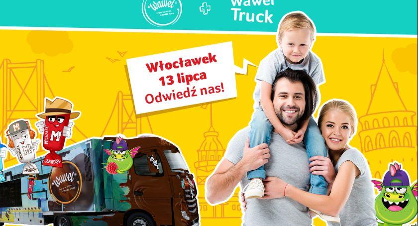 Rozrywka, Interaktywny Wawel Truck Włocławku Latem Maxxxa Marka Wawel przygotowała słodkości - zdjęcie, fotografia