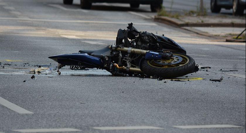 Wypadki drogowe, Tragedia Krojczynie Motocyklista zginął miejscu - zdjęcie, fotografia