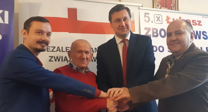 Polityka, Kolejne poparcie kandydata senatora Łukasza Zbonikowskiego Solidarność - zdjęcie, fotografia
