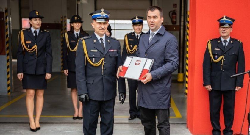 Pożary interwencje straży , Komendant Straży Pożarnej Włocławku - zdjęcie, fotografia