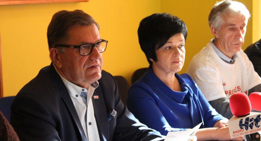 Polityka, Pracownicy protestują Włocławku Solidarność udzieliła poparcia - zdjęcie, fotografia