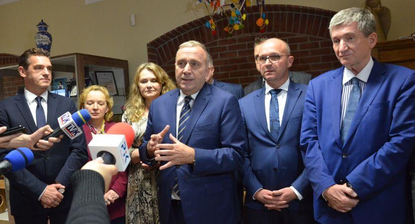 Polityka, Grzegorz Schetyna Włocławku Polska zmieniała pięknie Włocławek - zdjęcie, fotografia
