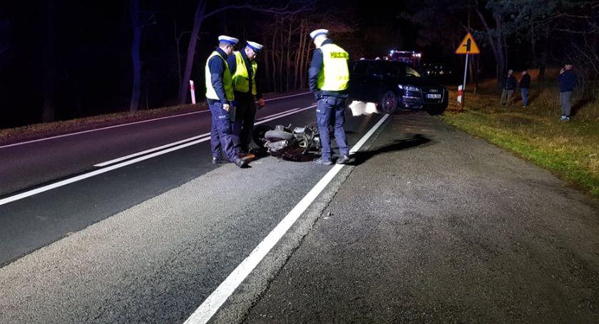 Wypadki drogowe, Wypadek Modzerowie Włocławkiem Motorowerzysta ciężkim stanie trafił szpitala [ZDJĘCIA] - zdjęcie, fotografia