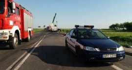 Czołowe zderzenie TIR-ów i BMW. Zginęły 3 osoby. Mercedes spłonął doszczętnie