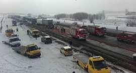 Potężny karambol na A1. Zderzyło się 76 samochodów. 32 osoby ranne