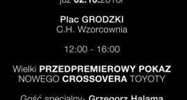 Pokaz nowej Toyoty we Wzorcowni we Włocławku. Grzegorz Halama gościem specjalnym. Przyjdź koniecznie