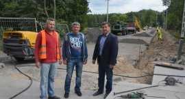 Powiat Włocławski cały czas inwestuje. Most na rzece Zgłowiączce w Lubrańcu na finiszu