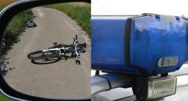 Wypadek w Gminie Włocławek. Rowerzysta przewieziony do szpitala