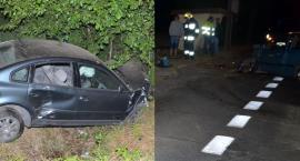 Wypadek w Łochocinie. Hyundai zderzył się z volkswagenem