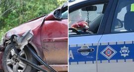 Groźny wypadek w Lubieniu Kujawskim. Zderzenie ciężarówki z osobówką. 3 osoby w szpitalu