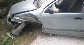 Dwóch 15-latków wybrało się na rajd samochodem. Zakończyli podróż na płocie [ZDJĘCIA]