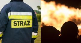 Pożar w Starym Brześciu. 2 osoby trafiły do szpitala. Jedna z nich do Siemianowic Śląskich