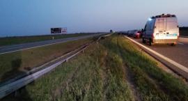 Wypadek na autostradzie A1 w Gminie Włocławek. Zderzyły się dwa samochody [FOTO]