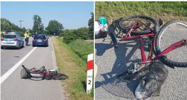 Wypadek z udziałem rowerzysty. Mężczyzna trafił do szpitala