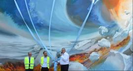 Pojawił się nowy mural na budynku Geberitu we Włocławku [ZDJĘCIA]