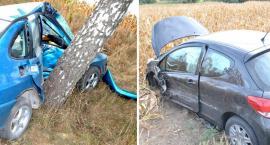 Tragiczny wypadek w Dąbrówce Barcińskiej. Czołowe zderzenia Seata z Peugeotem