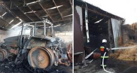 Pożar w Sęczkowie w gminie Osięciny. Spłonęły maszyny i budynki. Straty to 900 tysięcy [ZDJĘCIA]