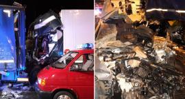 Tragiczny wypadek na A1 w Nowej Wsi pod Toruniem. Zderzyły się 3 ciężarówki i osobówka