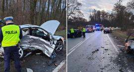 Wypadek na drodze DK62 Włocławek – Brześć w Józefowie. 5 osób w szpitalu [FOTO]