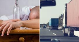 Groźnie na DK-91. Kierowca ciężarówki miał blisko 4 promile alkoholu. Strącił znak ...