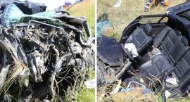 Wypadek na A1 w Unisławicach w Gminie Kowal. BMW uderzyło w nasyp [FOTO]