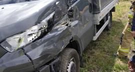 Zderzenie ciężarówki z autem dostawczym w regionie