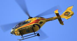 Wypadek w powiecie Aleksandrowskim. Rowerzysta przetransportowany helikopterem do szpitala